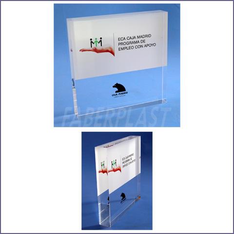 Bloques y trofeos de metacrilato plexiglas pmma faberplast for Caja madrid es oficina internet