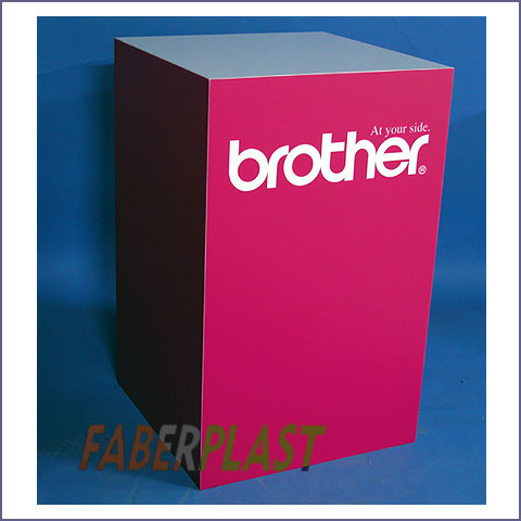 expositor cubo pvc brother