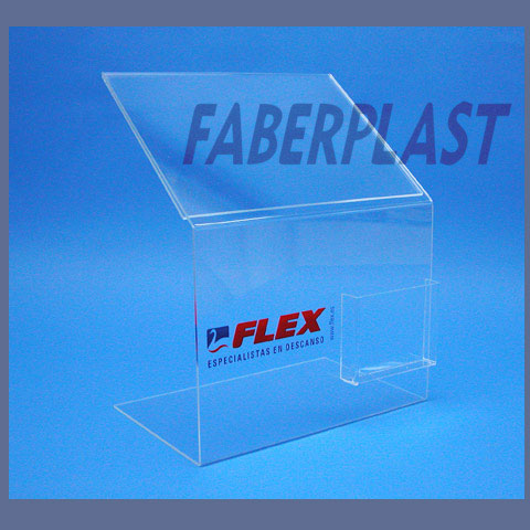 expositor metacrilato plv flex