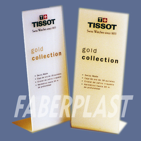 display metacrilato plexiglas pmma tissot