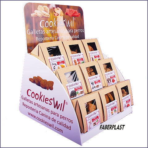 expositor metacrilato cookieswil