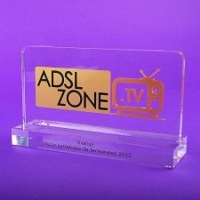 Trofeo metacrilato ADSL ZONE ORANGE