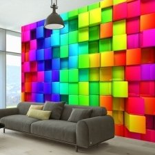 Fotomural - Colourful Cubes