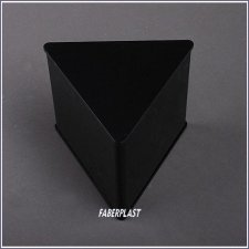 Caja Metacrilato Negro Triangular