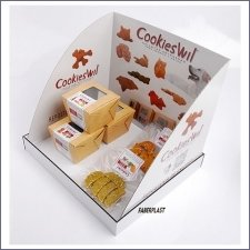 Expositor Pvc-carton Cookieswil